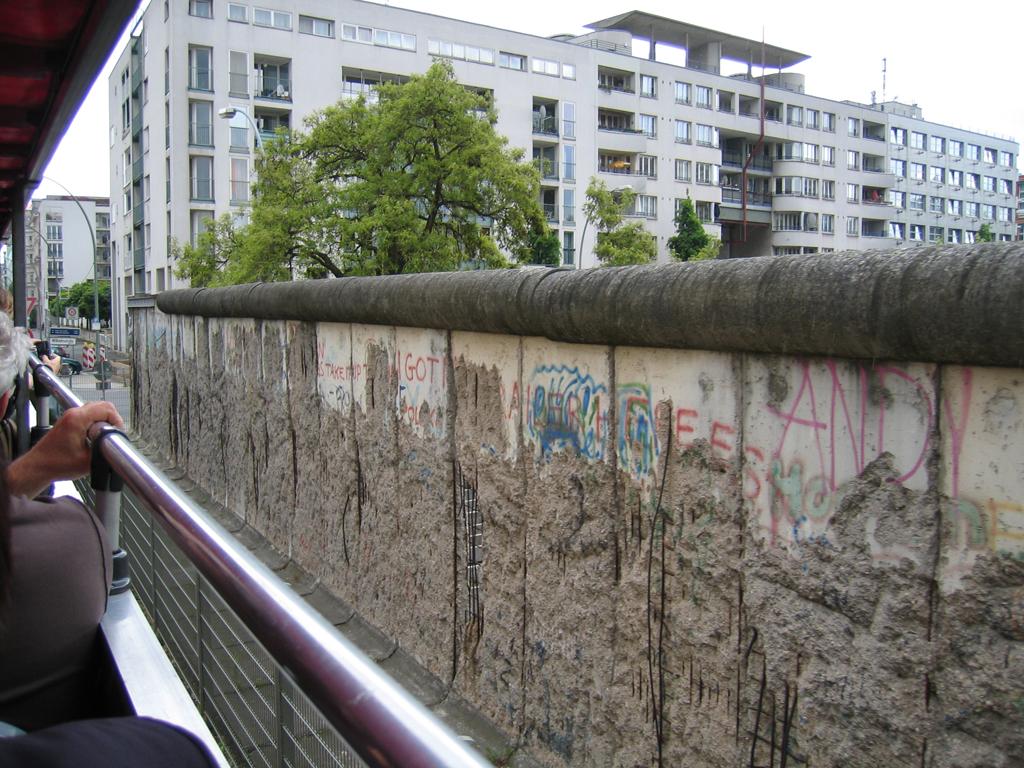 Muren rundt - Berlinermuren ved Topographic of terror