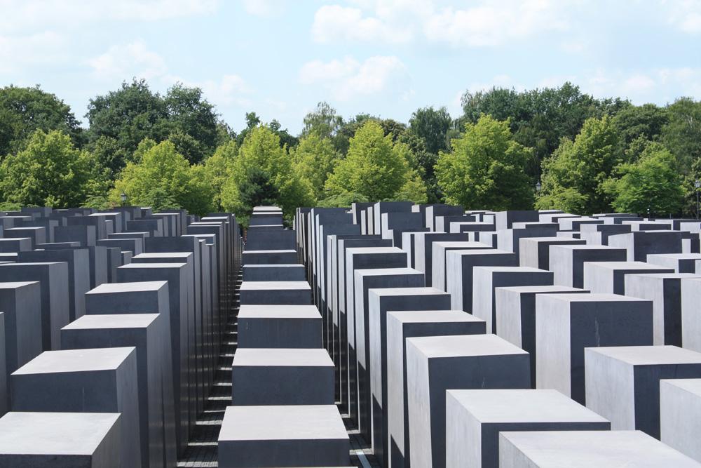 Jødemonumentet tæt ved Brandenburger Tor og hvor Hitlers bunker lå