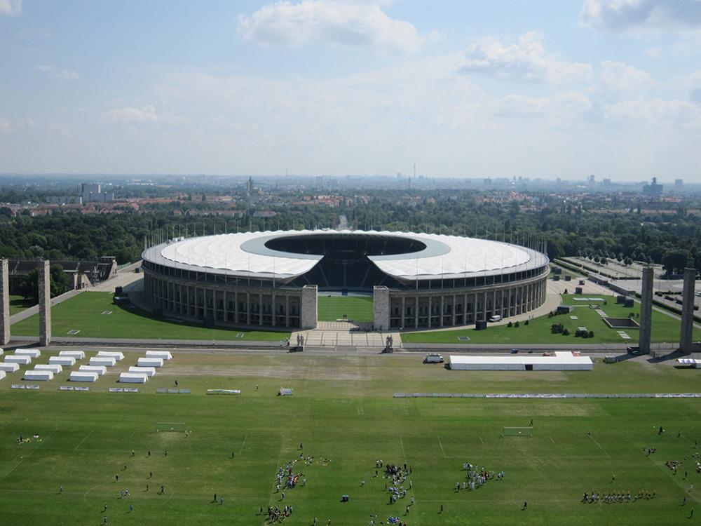 Olympia Stadion Berlin - Billede taget i vesttårnet