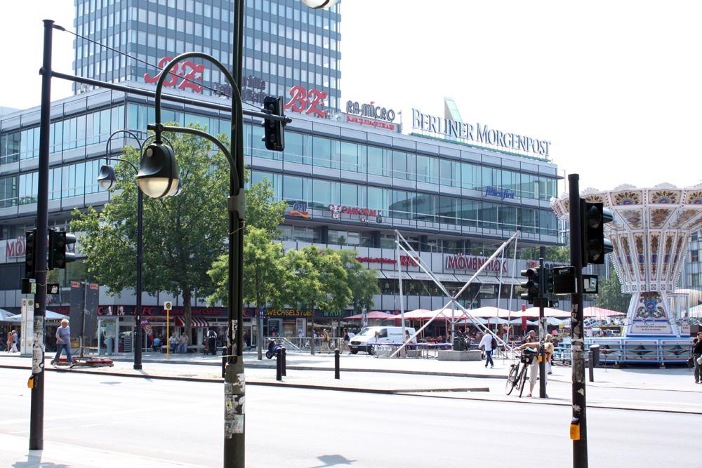 Shoppingcentre - Europacenter, ligger tæt ved Bikini Berlin